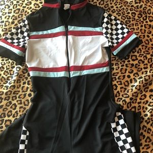 Checkered Racer Jumpsuit